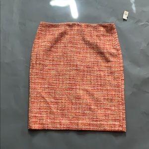 Talbots multi colored tweed skirt